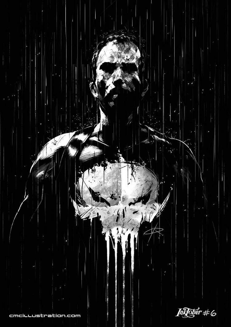 Punisher - Inktober #6 by Aioras
