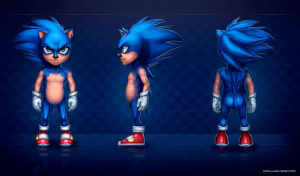 Sonic - character sheet by Aioras