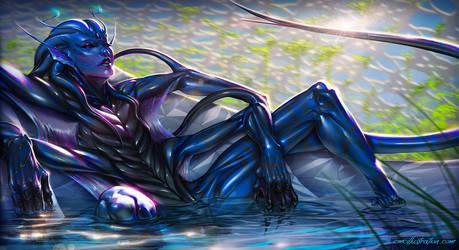 Vhirgo Amphibian Alien - commission
