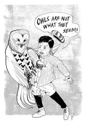 Young Disney And The Owl by dcf