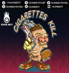 This cigarette looks like a killer.vector art by OliverArtsOficial