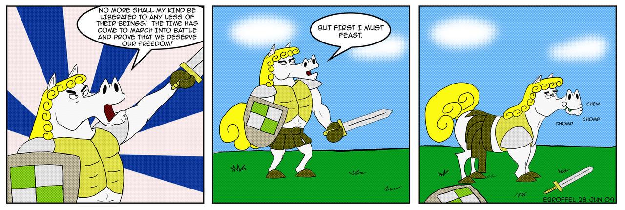The Heroic Horse Comic by Cartoon-Eric