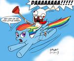Rabbid Riding Rainbow