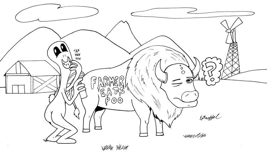 Alien Vandal by Cartoon-Eric