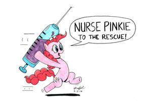 Nurse Pinkie to the Rescue! by Cartoon-Eric