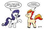 Rarity Meets a Ponyta by Cartoon-Eric
