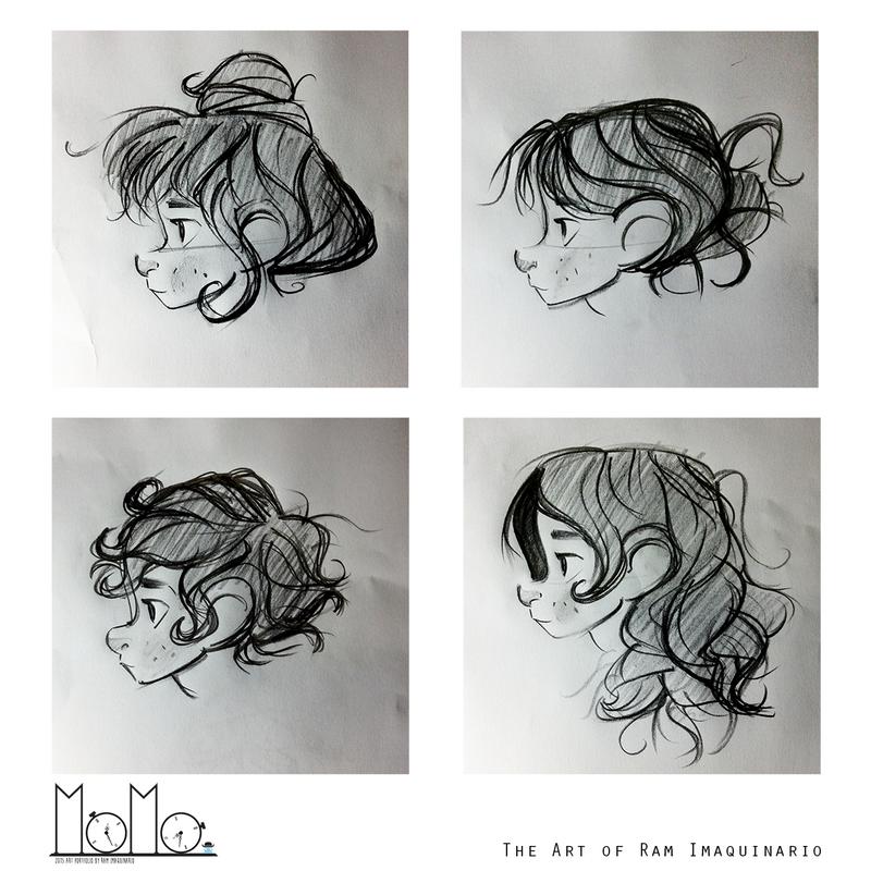Sketching Momo's Hair by Ram-Imaquinario