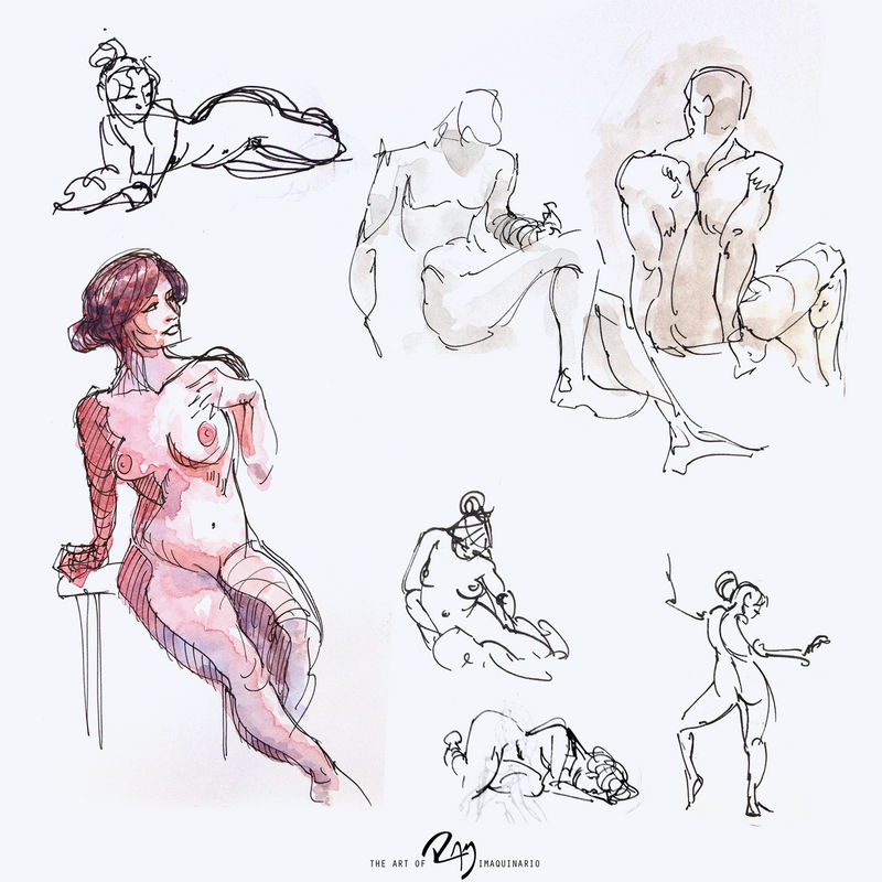 Gesture Drawings by Ram-Imaquinario