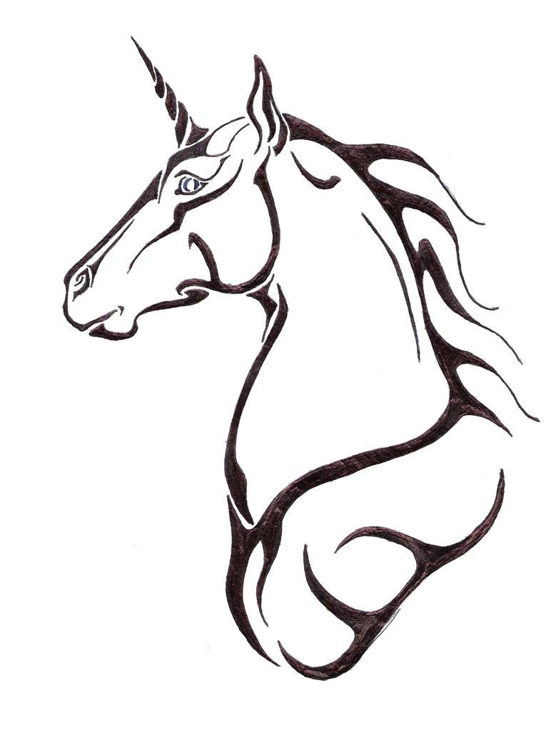 Unicorn by midnitesuicide on deviantart for Simple unicorn tattoo