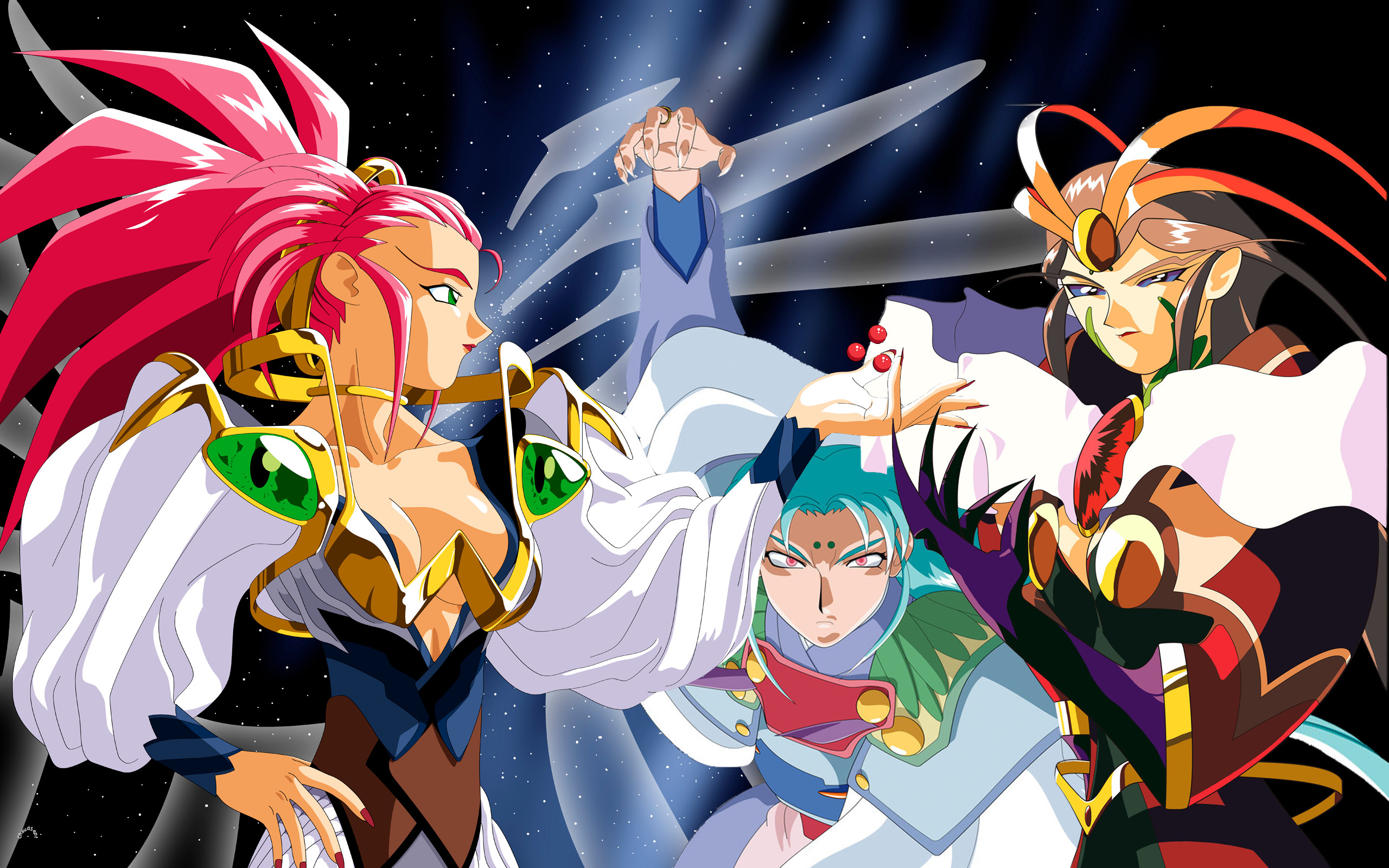 The Chousin - Washu, Tsunami, Tokimi by ChaudSept on ...
