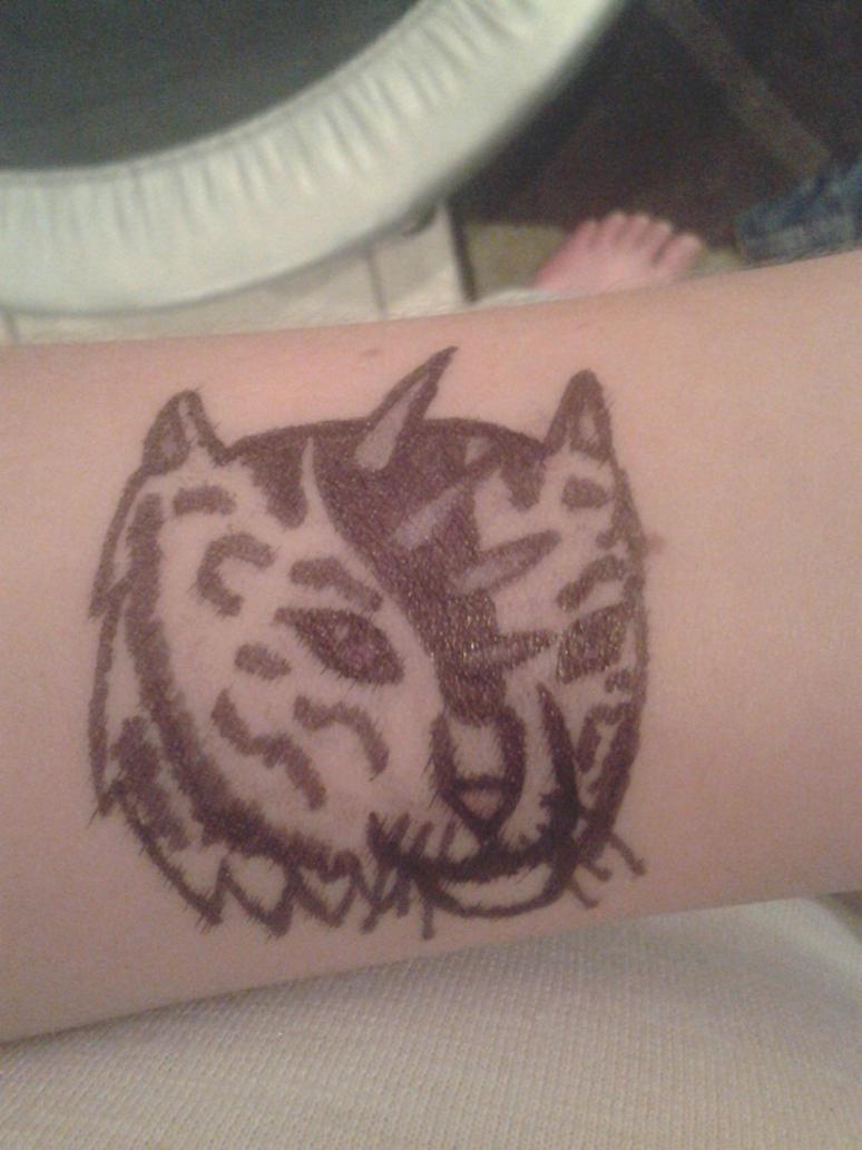 Quadritiger sharpie tattoo by silverheatdragon11 on deviantart for Sharpie tattoo designs