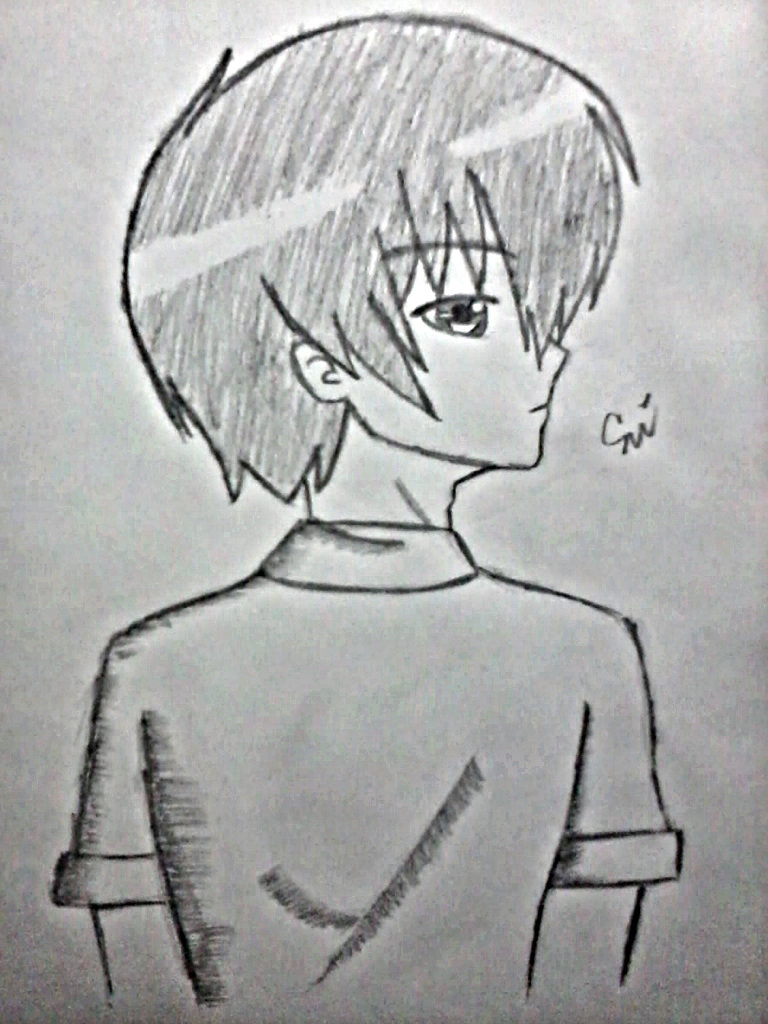Anime Guy Side View Drawing By Luciashana On Deviantart