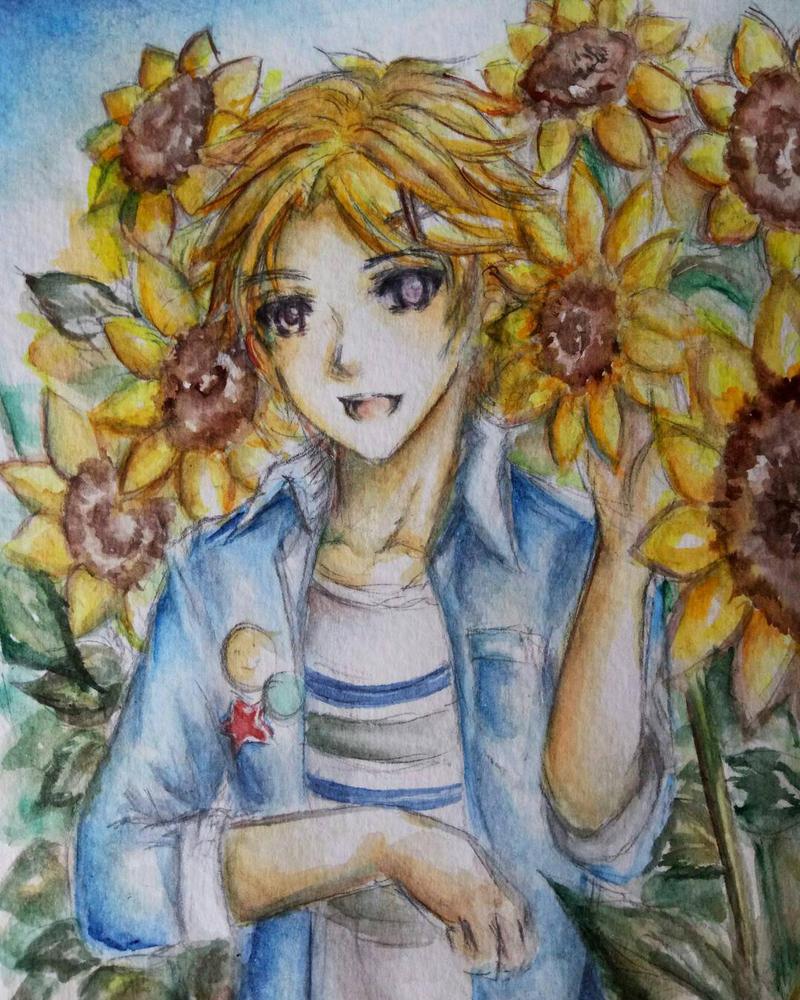 Mystic Messenger: Sunflowers and Sunshine Child by adelhydee