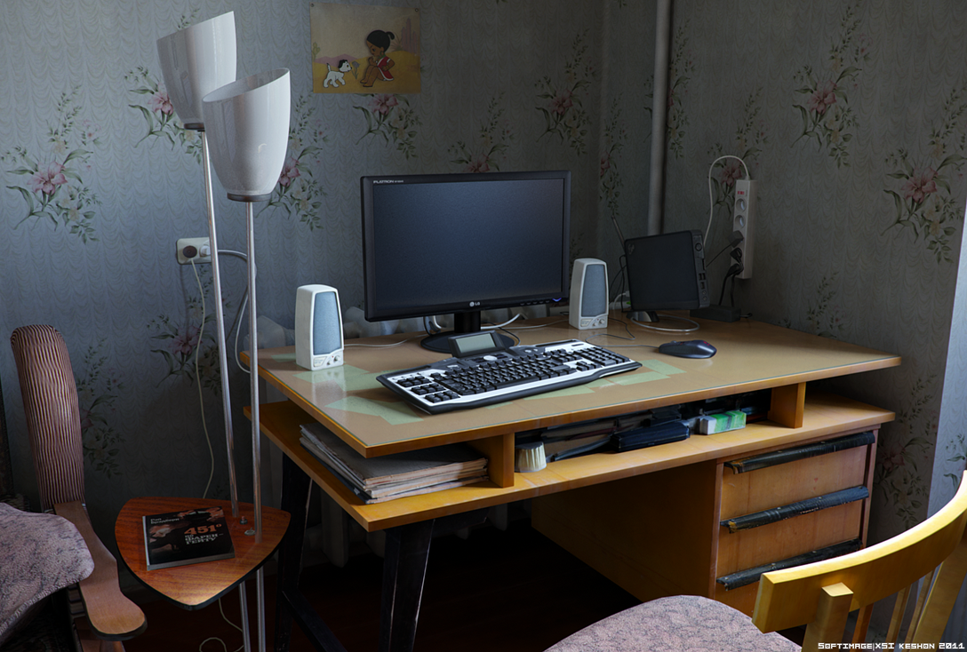 Bedroom computer desk by keshon83 on DeviantArt