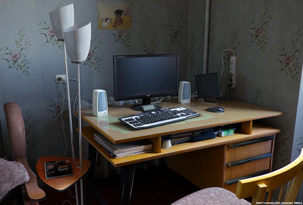 Bedroom computer desk by keshon83 on DeviantArt