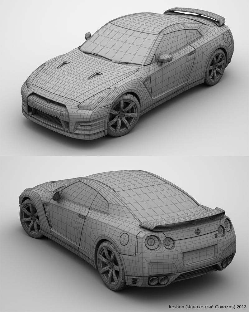 Nissan GT-R R35 Wireframe By Keshon83 On DeviantArt
