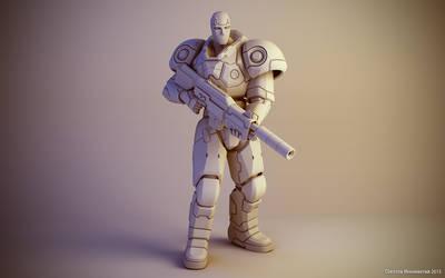 Sci-fi soldier figure #1 by keshon83