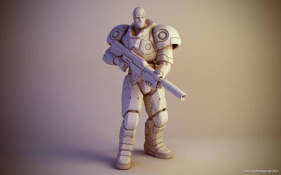 Sci-fi soldier figure #1