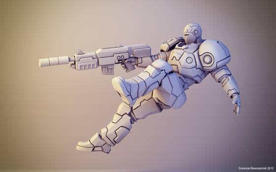 Sci-fi soldier figure #2