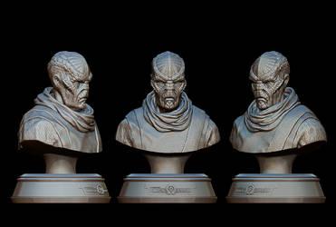 Drazi alien bust