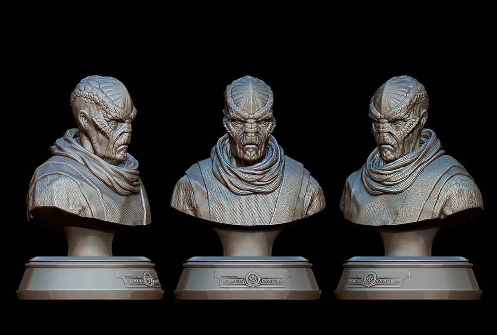Drazi alien bust by keshon83