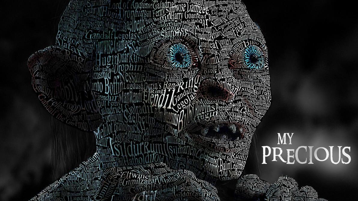 Gollum-Typography by JatinMoladiya