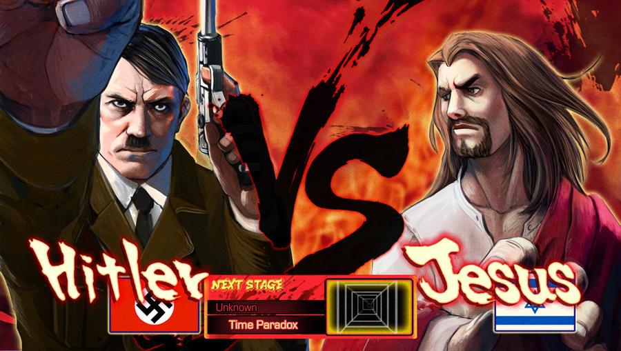 Hitler VS Jesus by Pazero