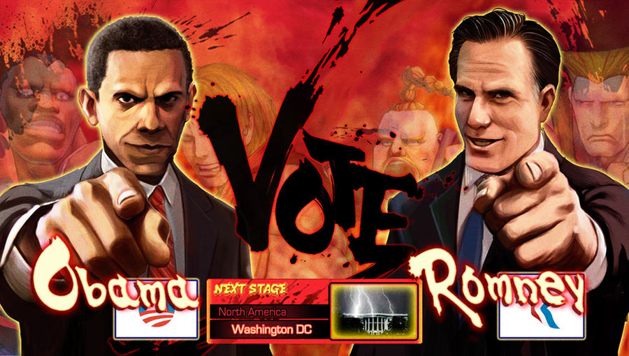 OBAMA VS ROMNEY by Pazero