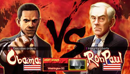 Ron Paul VS Obama by Pazero