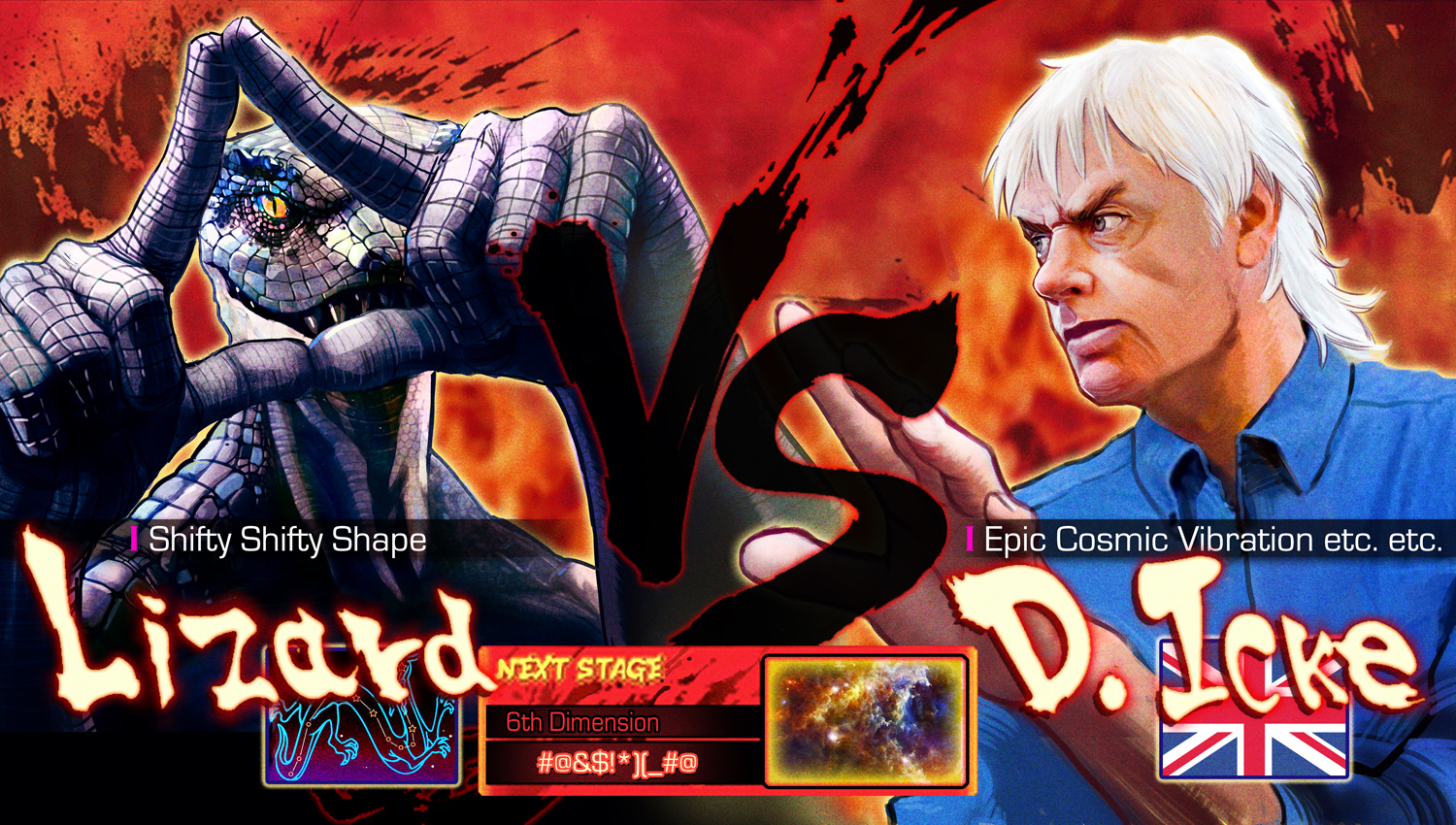 David Icke VS Lizard by Pazero