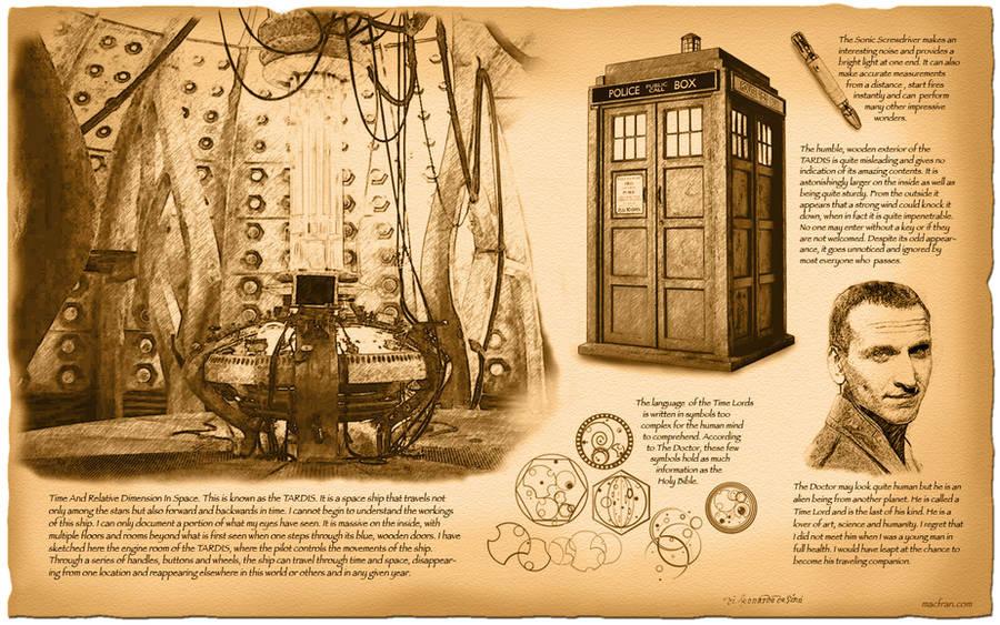 Doctor Who, TARDIS by da Vinci by macfran