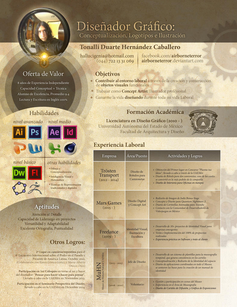 Curriculum Vitae by AirborneTerror on DeviantArt