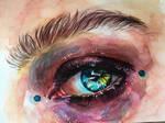 Watercolor painting of eye