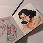 Sketchbook. Watercolor pencils sketches
