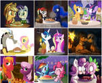 My Little Pony Spaghetti Kiss Collage