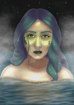 Mermaid Self Portrait