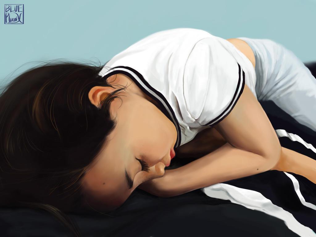 A sleeping child by Blue-F-Phoenix