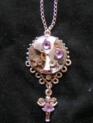 Beautiful Violet Fairy Pendant