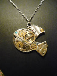 Steampunk Fish Pendant by lollollol2