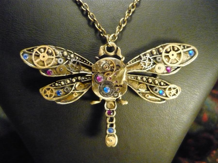 Bronze Steampunk Dragonfly by lollollol2