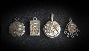 Simple but special - unisex steampunk pendants by lollollol2