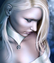 Emma Frost - Portrait of a Queen by lilyinblue