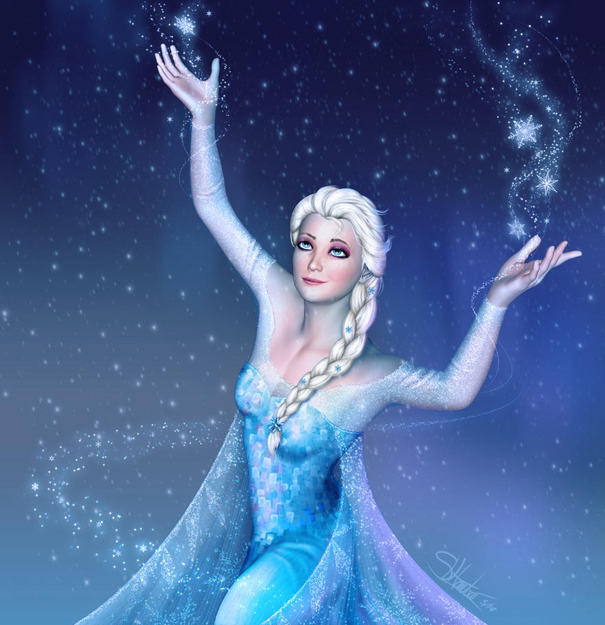 Queen Elsa - Frozen by lilyinblue