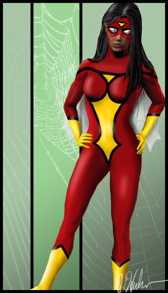 Jessica Drew, Spider-Woman by lilyinblue