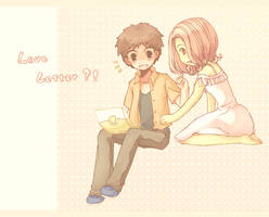 Koushirou and Mimi by eevee-moon