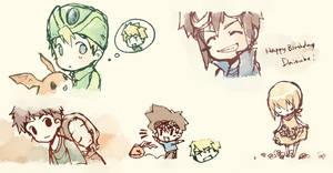 sketches-Digimon by eevee-moon