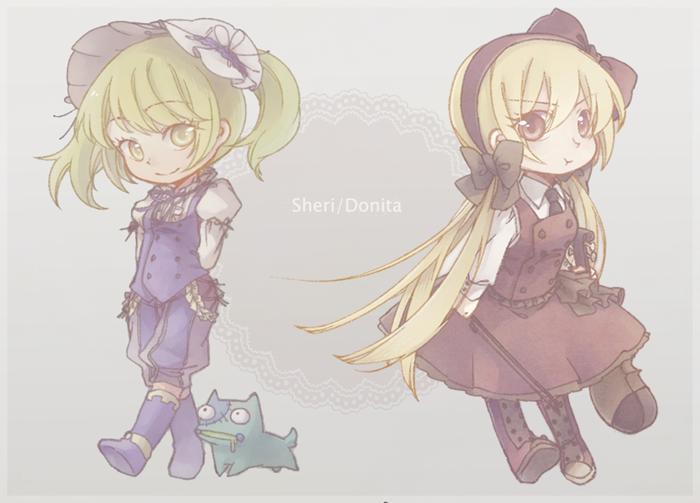 Sheri and Donita by eevee-moon