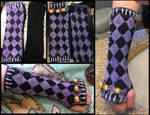 (JJBA) Purple Haze Styled Armsocks. by C4r1s5a