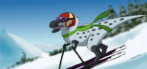 Skiing Nanuqsaurus