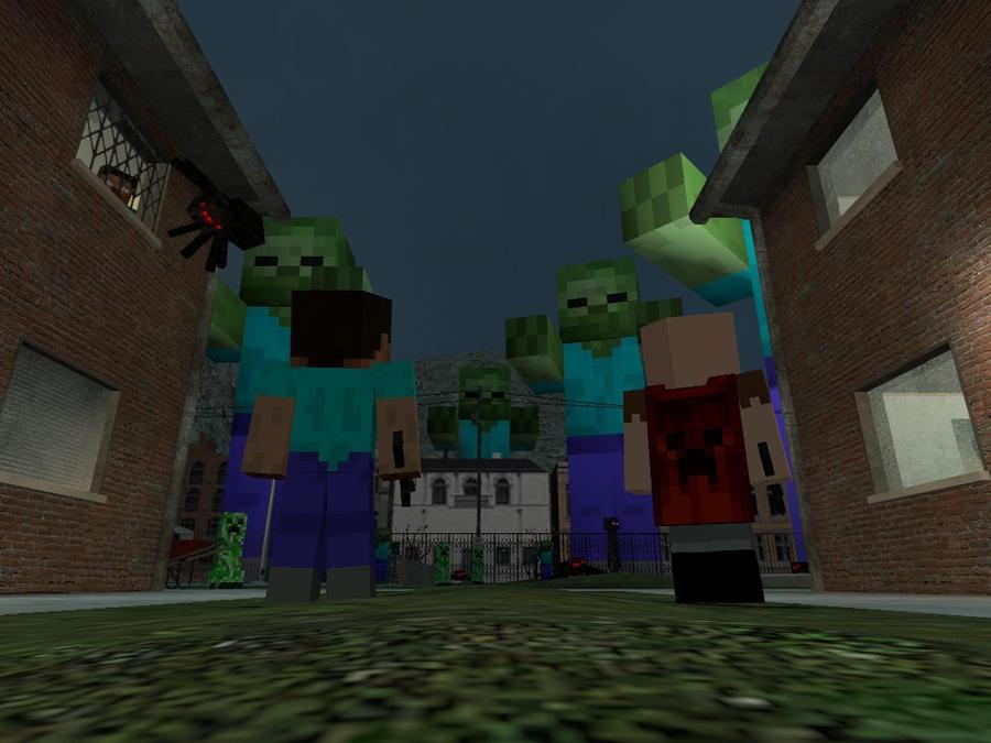 Minecraft Herobrine Vs Steve Herobrine and notch and steve